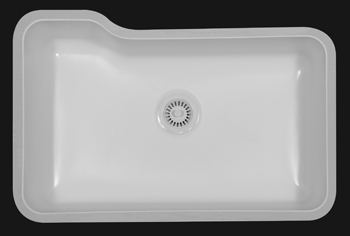 material  acrylic style  extra large single bowl undermount  outside dimensions  31   x 20 7 8   inside dimensions  28 1 2   x 18 1 4   x 8 1 2   karran solid surface acrylic undermount kitchen sinks  rh   kitchenbath com