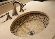 Small Oval Mosaic Drop In Sink