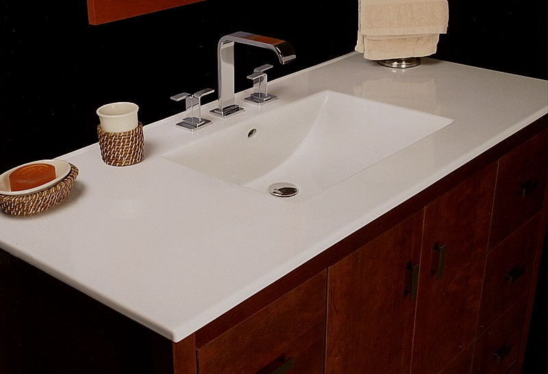 one piece bathroom sink and countertop strasser and porcelain vanity tops 25644